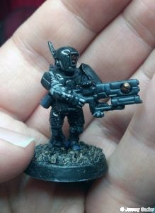 Tau black gloss armour