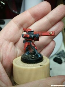 Tau Fire Warrior red paint scheme