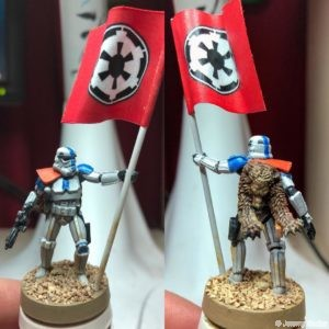 Star Wars Legion 501st squad leader with flag